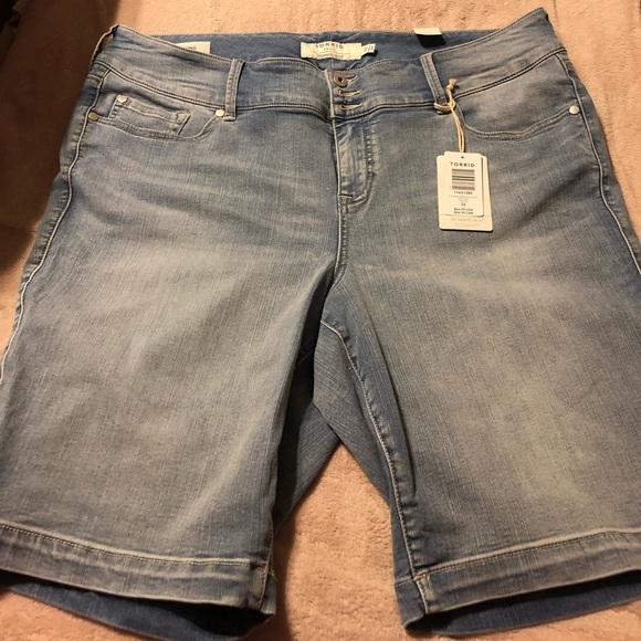 422f39de10 torrid Shorts | Jegging Bermuda Short Light Wash | Poshmark